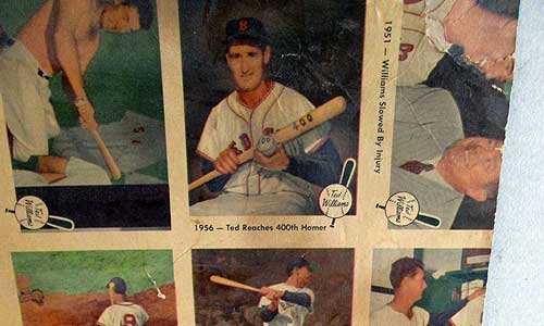 1959 Fleer Ted Williams Uncut Sheet