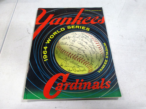 image 11 of an incredible sports memorabilia collections with world series programs and tickets