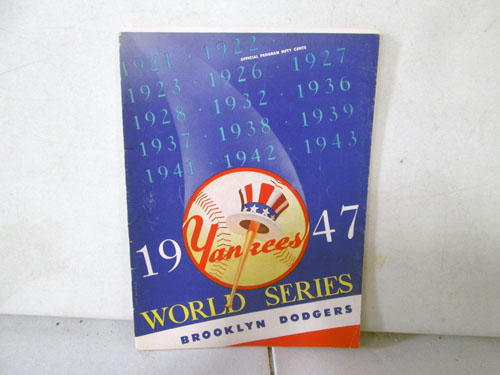 image 26 of an incredible sports memorabilia collections with world series programs and tickets