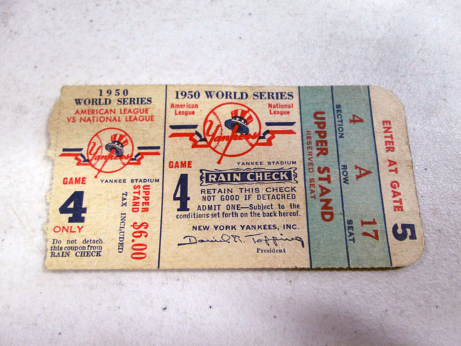 image 38 of an incredible sports memorabilia collections with world series programs and tickets