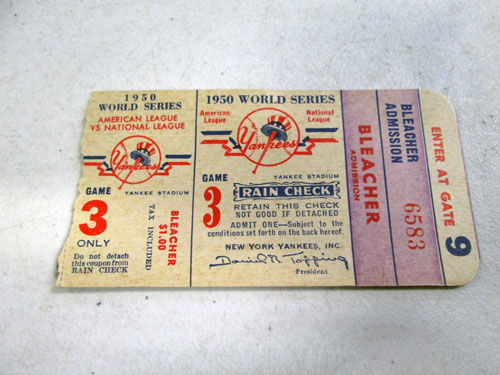 image 39 of an incredible sports memorabilia collections with world series programs and tickets