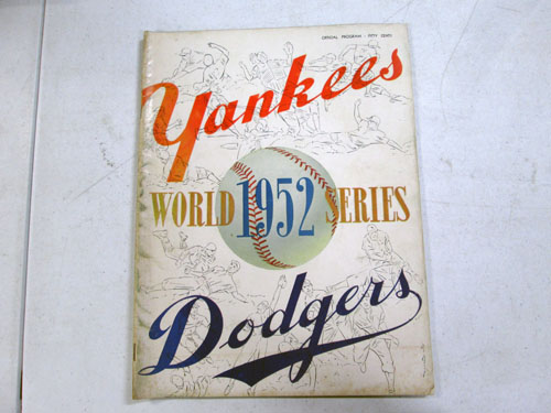 image 9 of an incredible sports memorabilia collections with world series programs and tickets