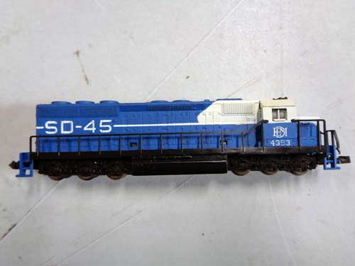 image of an N-gauge train collection 7