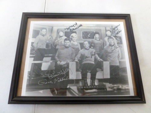 image of original cast signed star trek photo with gene rodenberry